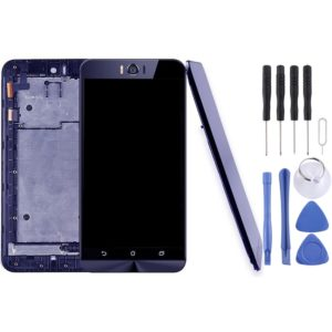 LCD Screen and Digitizer Full Assembly with Frame for ASUS Zenfone Selfie ZD551KL Z00UD(Black)