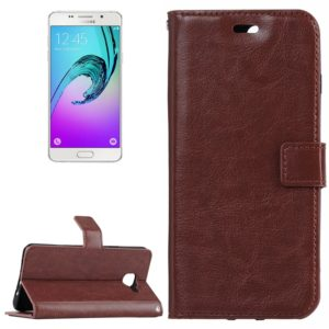 For Galaxy A7 / A710 Crazy Horse Texture Horizontal Flip PU Leather Case with Holder & Card Slots & Wallet(Brown)