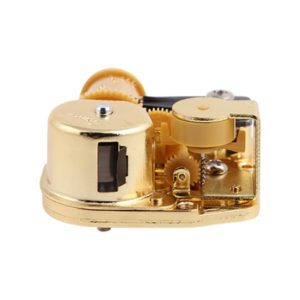 Eight-tone Gold-plated Bar Repair Parts DIY Sky City Paperback Music Box(Robot Cat)