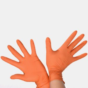20 Pairs Disposable Butyronitrile Gloves Labor Supplies, Size: XL, Suitable for Palm Width: Higher Than 10cm(Orange)