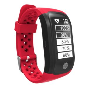 S908 GPS Bluetooth Smart Band Bracelet, IP68 Professional Waterproof, Support Heart Rate Monitor / Swimming Analysis / Pedometer / Sports Track / Sleep Monitor / Sedentary Reminder / Call Reminder, Compatible with Android and iOS Phones (Red)