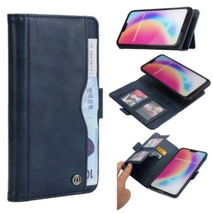 Horizontal Flip Leather Case for Huawei P20 Lite, with Card Slots & Arc Holder & Wallet & Photo Frame (Blue)