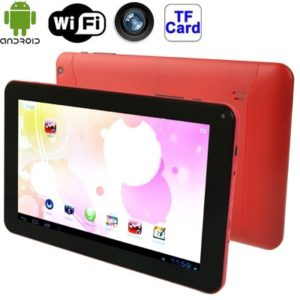 9.0 inch Tablet PC, 512MB+8GB, Android 4.4 Allwinner A33 up to 1.3GHz, WiFi, HDMI(Red)