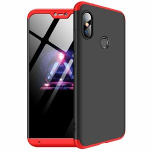 OEM Θήκη Xiaomi Mi A2 Lite 360 Full Body Protection Front and Back Case-black/red