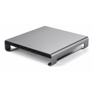 Satechi Aluminum Monitor Stand Hub for iMac Space Gray