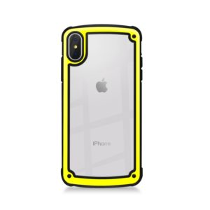 Shockproof PC + TPU Case for iPhone XS / X (Yellow)