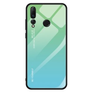 For Huawei Nova 4 Gradient Color Glass Case(Sky Blue)