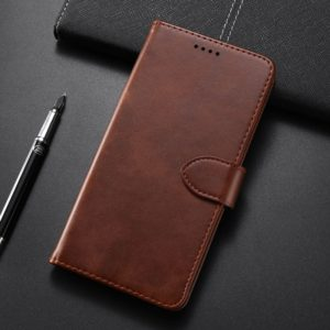 Calf Texture Horizontal Flip Leather Case for Huawei Mate 20 Pro, with Holder & Card Slots & Wallet(Brown)