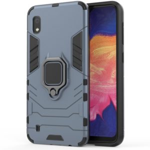 PC + TPU Shockproof Protective Case for Galaxy A10, with Magnetic Ring Holder (Navy Blue)