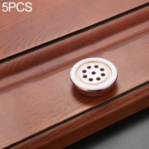 5 PCS Oukali Stainless Steel Zinc Alloy Vent Hole Furniture Cabinet Wardrobe Riser Vent (Gold)