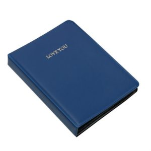 LOVEYOU Words Cover Standard Mini Photo Album Book, Specification:3 inch 64 Sheets(Royal Blue)