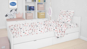 Μαξιλαροθήκη Kids Hearts 09 Coral Cotton Dimcol (50x70) 1Τεμ