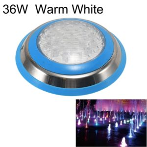 36W LED Stainless Steel Wall-mounted Pool Light Landscape Underwater Light(Warm White Light)