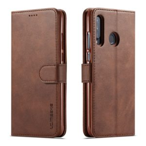 LC.IMEEKE Θήκη Huawei P30 Lite LC.IMEEKE Wallet leather stand Case-coffee