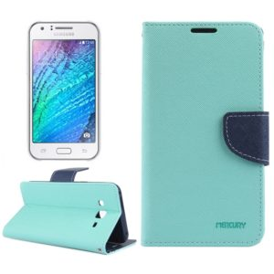 Cross Texture Horizontal Flip Leather Case with Holder & Card Slots & Wallet for Galaxy J5(Light Green)
