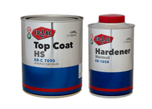 ER-LAC TOP COAT ER-C 7090 + HARDENER(2:1) Normal H.S. ER-1050 0.5L 1L ER-C 7090 - 9006