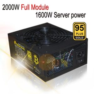 2000W Full Module 95 PLUS GOLD Computer Mining Switching, 24P Motherboard Power Supply, Support 6 Pieces Graphics Card
