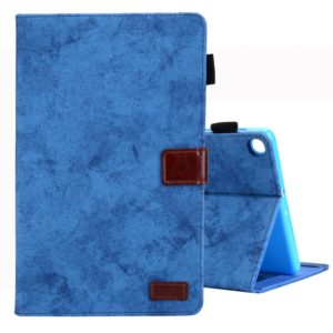 For Galaxy Tab A 10.1 (2019) Business Style Horizontal Flip Leather Case, with Holder & Card Slot & Photo Frame & Sleep / Wake-up Function(Blue)