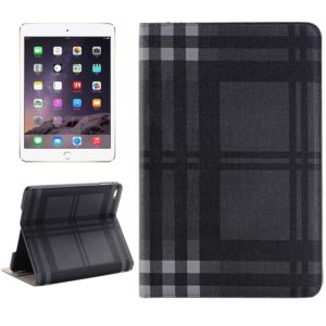 Grid Texture Horizontal Flip Smart Leather Case with Holder & Card Slots & Wallet for iPad Mini 4(Grey)