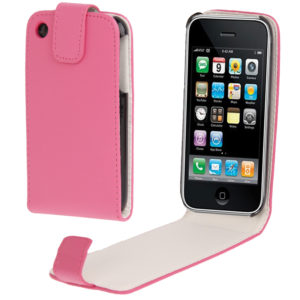Vertical Flip Leather Case for iPhone 3G & 3GS(Magenta)