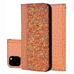 Crocodile Texture Glitter Powder Horizontal Flip Leather Case with Card Slots & Holder for Huawei P20 Lite 2019 / Nova 5i(Orange)