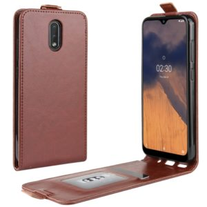 For Nokia 2.3 R64 Texture Single Vertical Flip Leather Protective Case with Card Slots & Photo Frame(Brown)