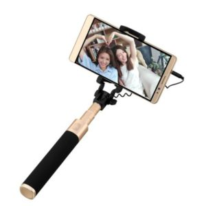 Original Huawei Live Broadcast Selfie Stick Monopod Extendable Handheld Holder with Wire Control(Black + Gold), For iPhone, Samsung, HTC, LG, Sony, Huawei, Lenovo, Xiaomi and other Smartphones (Huawei)