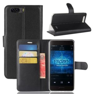 For Blackview P6 Litchi Texture Horizontal Flip Leather Case with Holder & Card Slots & Wallet(Black)
