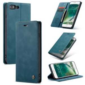 CaseMe-013 Multifunctional Retro Frosted Horizontal Flip Leather Case for iPhone 7 Plus / 8 Plus, with Card Slot & Holder & Wallet(Blue) (CaseMe)