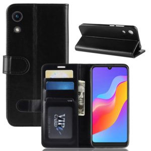 R64 Texture Single Fold Horizontal Flip Leather Case for Huawei Honor Play 8A, with Holder & Wallet & Card Slots & Photo Frame (Black)