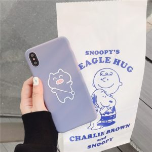 TPU Protective Case For iPhone XR(Cartoon Model E)