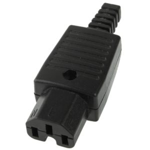 3 Prong Female AC Wall Universal Travel Power Socket Plug Adaptor(Black)