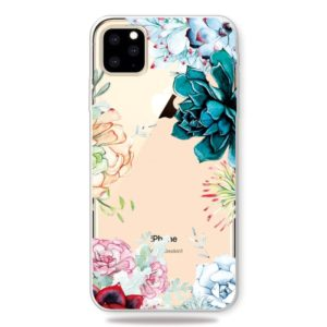 Printing Pattern Soft TPU Cell Phone Cover Case for iPhone 11 Pro(The Stone Flower)