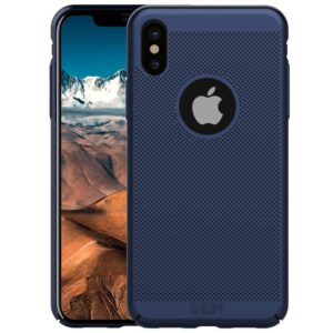 MOFI Honeycomb Texture Breathable Protective Back Cover Case for iPhone XS (Blue) (MOFI)