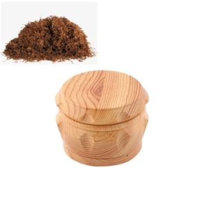Wood Drum Type Smoke Grinder Tobacco Spice Crusher, Size:S(Yellow)