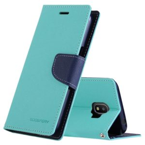 GOOSPERY FANCY DIARY Series for Galaxy J2 Pro (2018) Cross Texture Horizontal Flip Leather Case with Holder(Mint Green) (GOOSPERY)