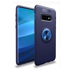 lenuo Shockproof TPU Protective Case for Galaxy S10 E, with Invisible Holder(Blue) (lenuo)