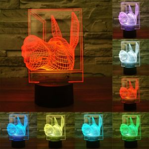 Donkey Shape 3D Touch Switch Control LED Light , 7 Colour Discoloration Creative Visual Stereo Lamp Desk Lamp Night Light