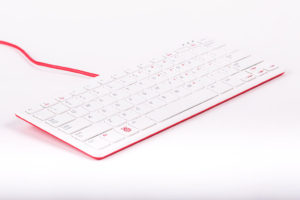 Raspberry Pi Official Keyboard & Hub US (Red/White)