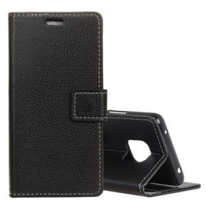 Litchi Texture Horizontal Flip Leather Case for Huawei Mate 20 Pro, with Holder & Card Slots & Wallet (Black)
