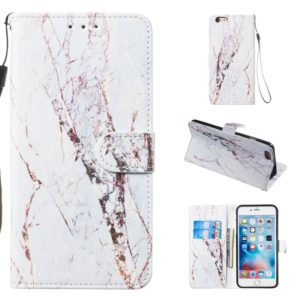 Leather Protective Case For iPhone 6 & 6s(White Marble)