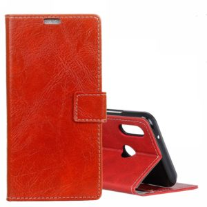 Retro Crazy Horse Texture Horizontal Flip Leather Case for ASUS ZenFone Max (M2)ZB631KL, with Wallet & Holder & Card Slots & Photo Frame (Red)