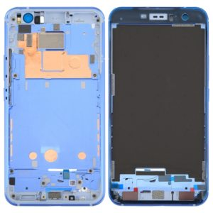 for HTC U11 Front Housing LCD Frame Bezel Plate(Blue)