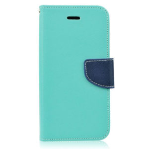 BookStyle Case Mint-Navy Blue for Samsung Galaxy S5 G900