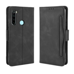For Xiaomi Redmi Note 8T Wallet Style Skin Feel Calf Pattern Leather Case ,with Separate Card Slot(Black)