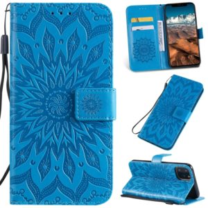 Pressed Printing Sunflower Pattern Horizontal Flip PU Leather Case for iPhone 11 Pro Max, with Holder & Card Slots & Wallet & & Lanyard