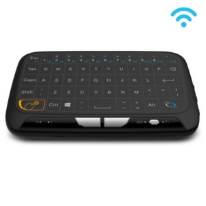 H18 2.4GHz Mini Wireless Air Mouse QWERTY Keyboard with Touchpad / Vibration for PC, TV(Black)