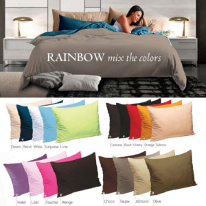 Πανωσέντονο Μονό Rainbow Sateen Cotton Sb Concept (170x260) 1Τεμ - WHITE