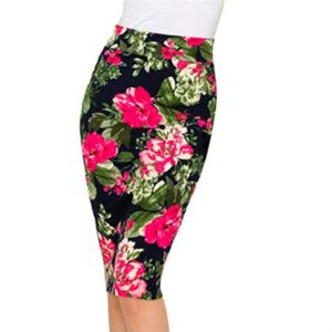 Temperament Women Printed Pencil Skirt, Size: L(Pink )