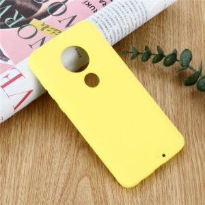 Solid Color Liquid Silicone Shockproof Full Coverage Case For Motorola Moto G7 & G7 Plus(Yellow)